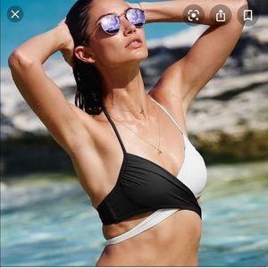 Victoria's Secret B/W crossover wrap bikini